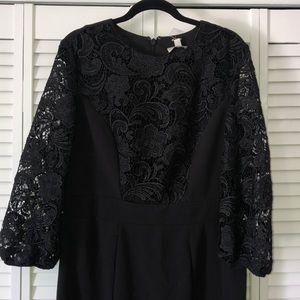 NY & company black dress with lace detail